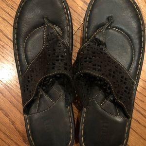 Bjorne black sandals w32317 preowned